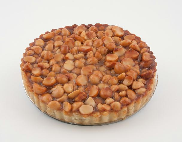 caramel & macadamia tart